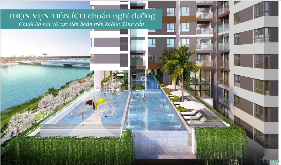 Tiện ích hồ bơi dự án chung cư căn hộ D'lusso Emerald Quận 2