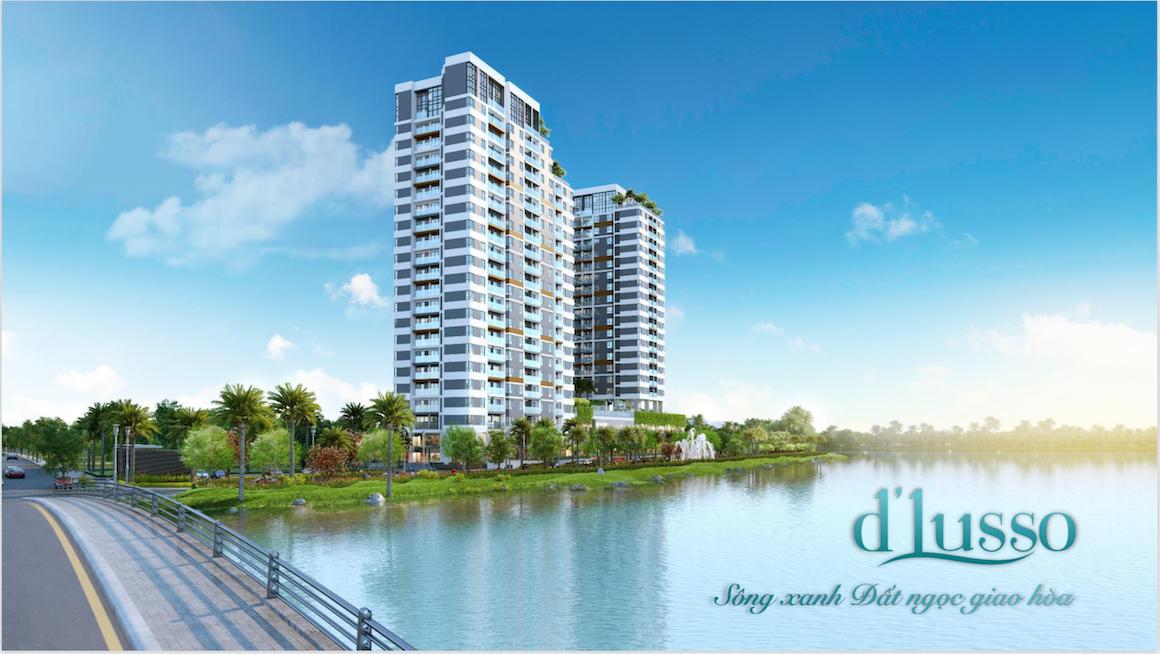 Phối cảnh tổng thể dự án căn hộ chung cư D'lusso Emerald Quận 2