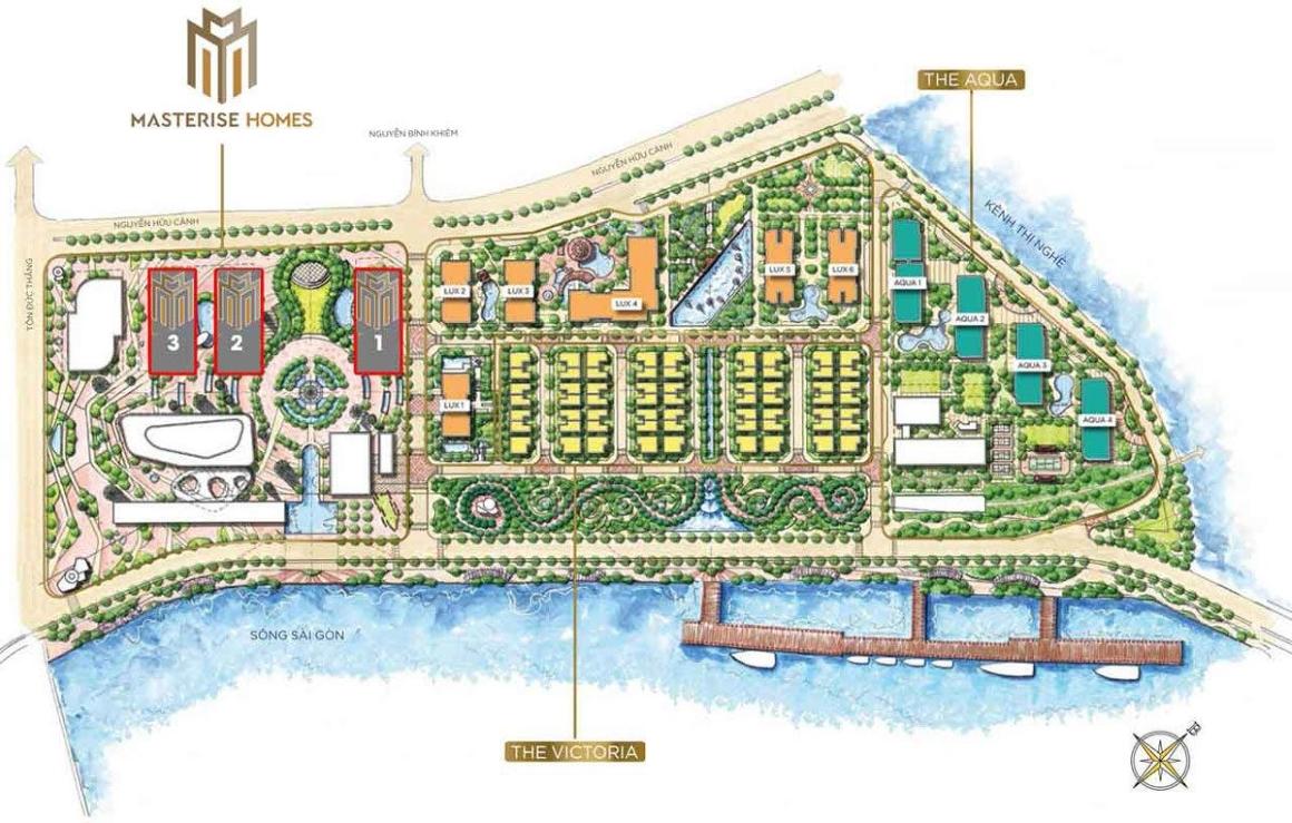 Mặt bằng dự án Masterise Homes Ba Son Quận 1