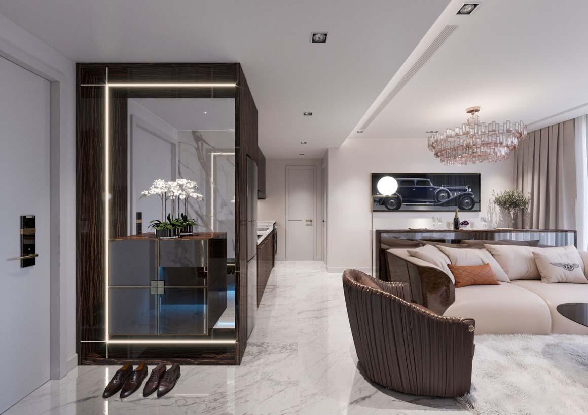 Phòng khách dự án căn hộ chung cư Saigon Sport City quận 2