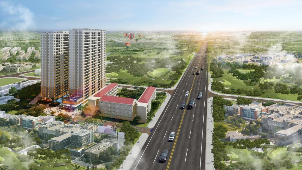 Phối cảnh tổng thể Dự Án Bcons Green View Liên hệ: 0949893893 xem thực tế dự án