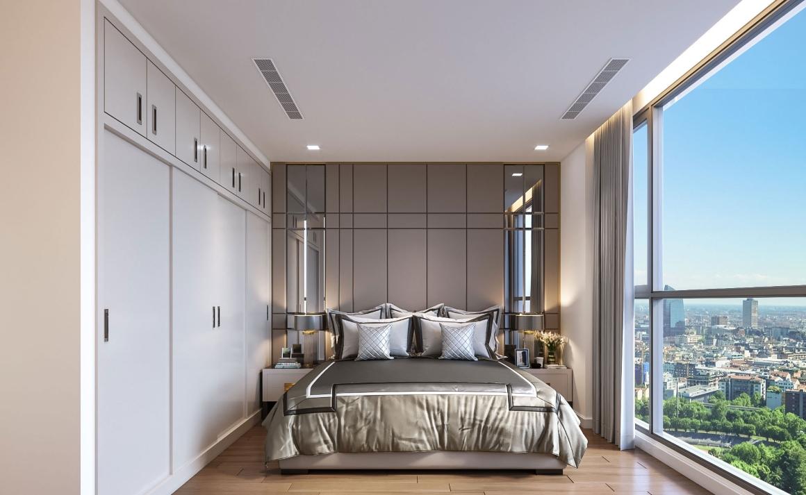 Phòng ngủ nhỏ Căn hộ Masterise Homes Ba Son Quận 1
