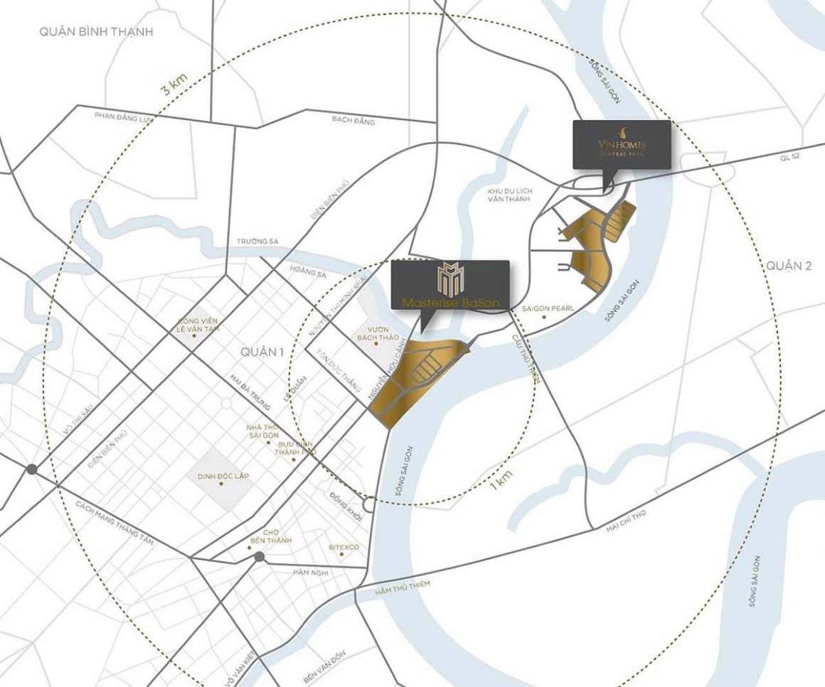 Vị trí dự án Masterise Homes Ba Son Quận 1