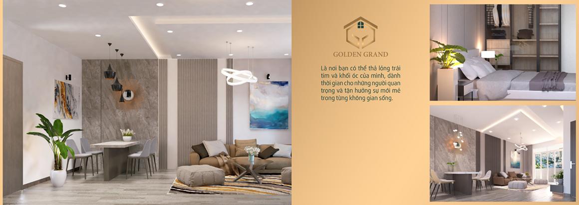 Nhà mẫu dự án Golden Grand - Không gian sống xanh