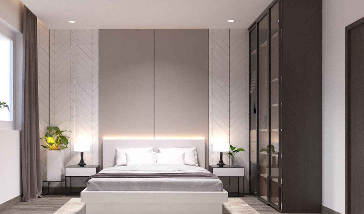 Phòng ngủ nhà mẫu dự án Golden Grand