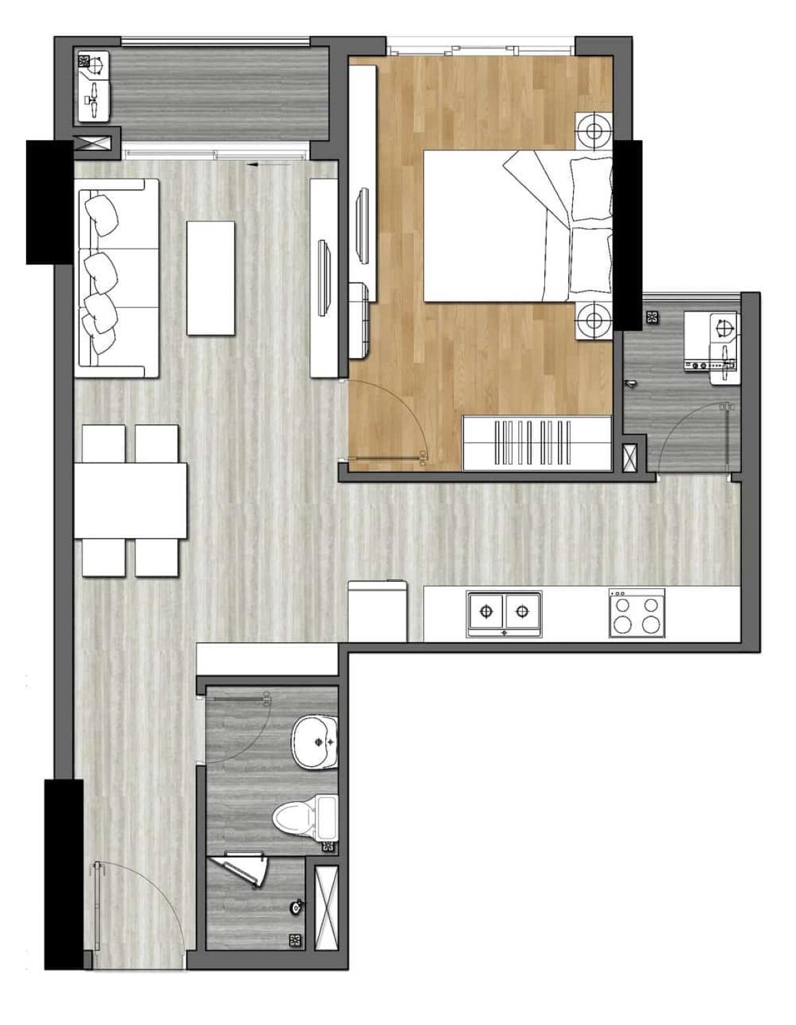 Thiết kế căn hộ 9X Next Gen - 1PN