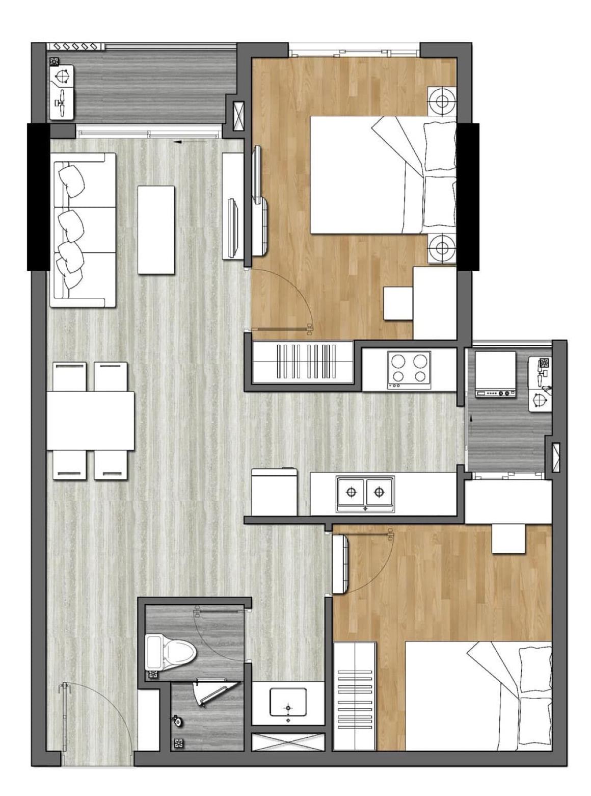 Thiết kế căn hộ 9X Next Gen - 2PN