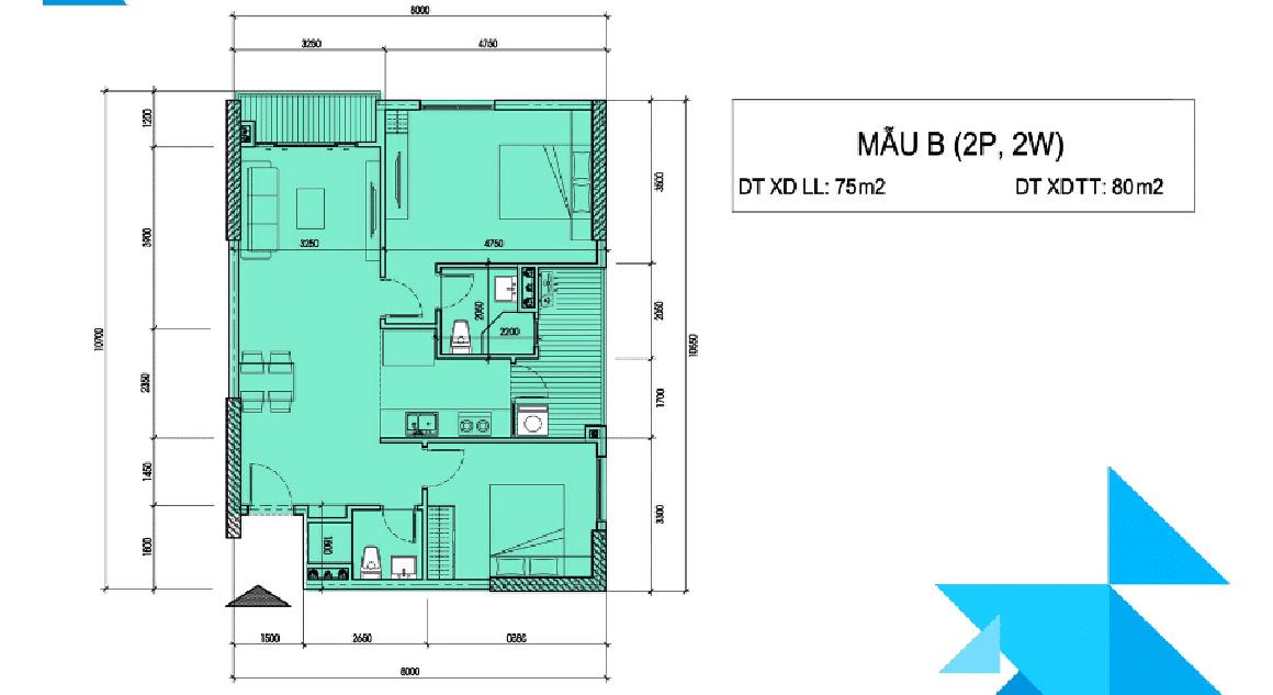 Thiết kế căn hộ mẫu Minh Quốc Plaza 1