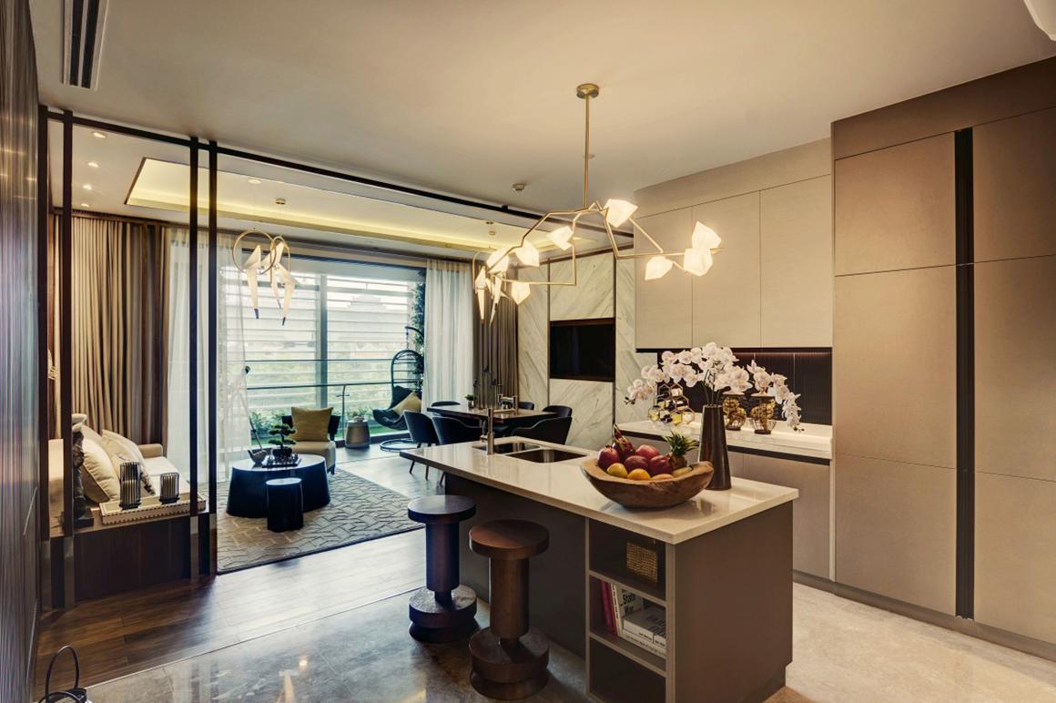 Thiết kế phòng khách căn hộ dự án D'EDGE THẢO ĐIỀN