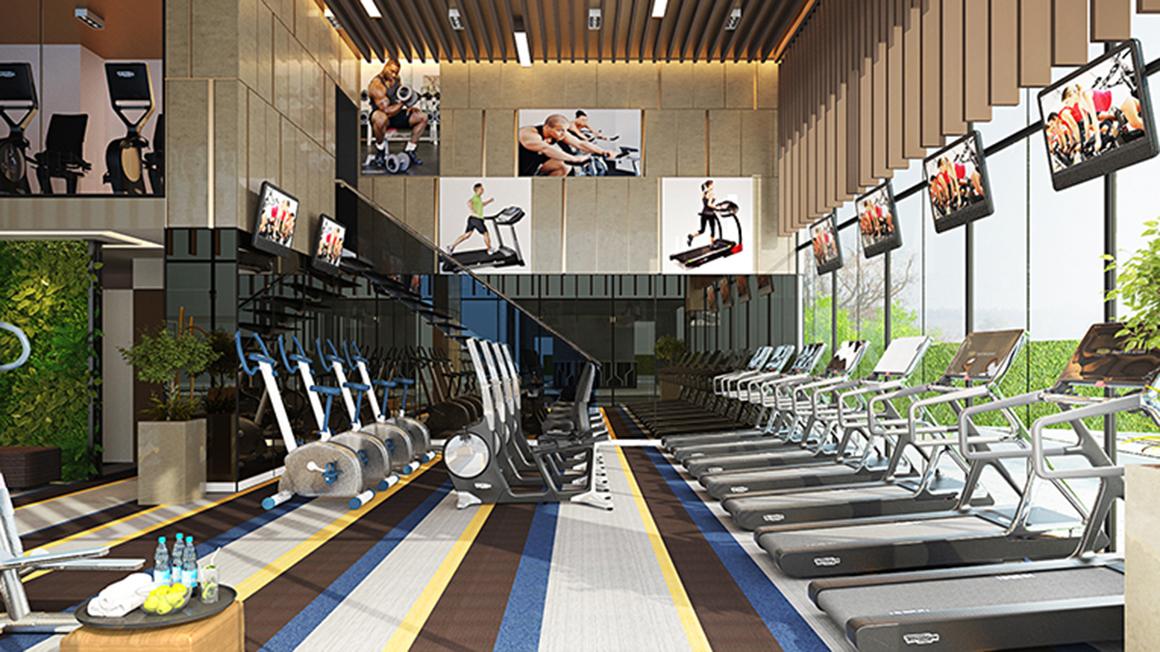 TIện ích phòng Gym tại dự án Lux Star Quận 7