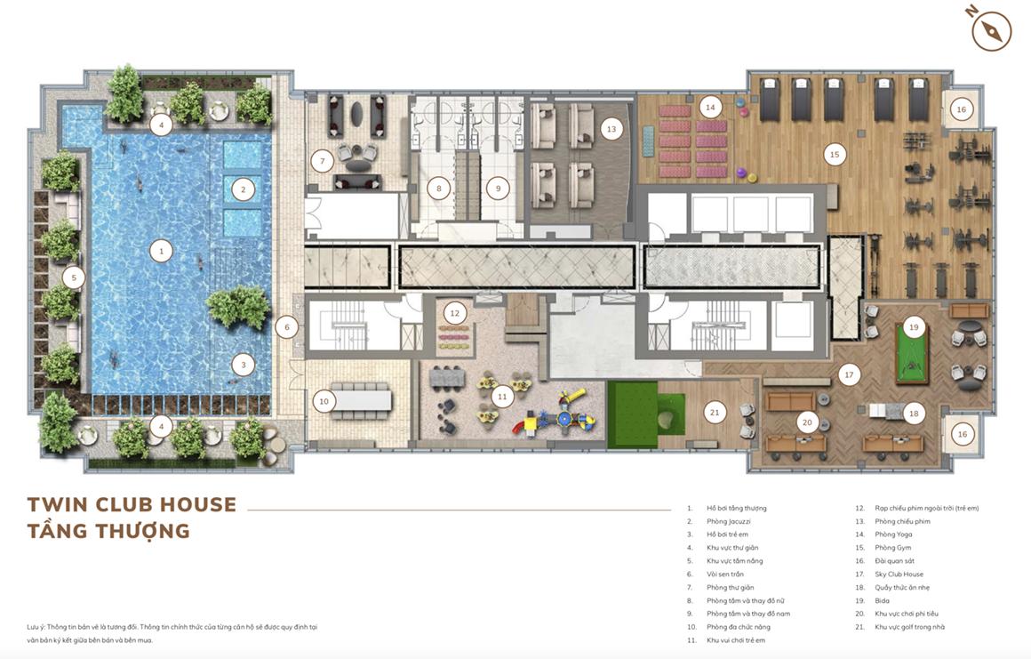 Twin Club House Tầng Thượng dự án The Centennial Sài Gòn
