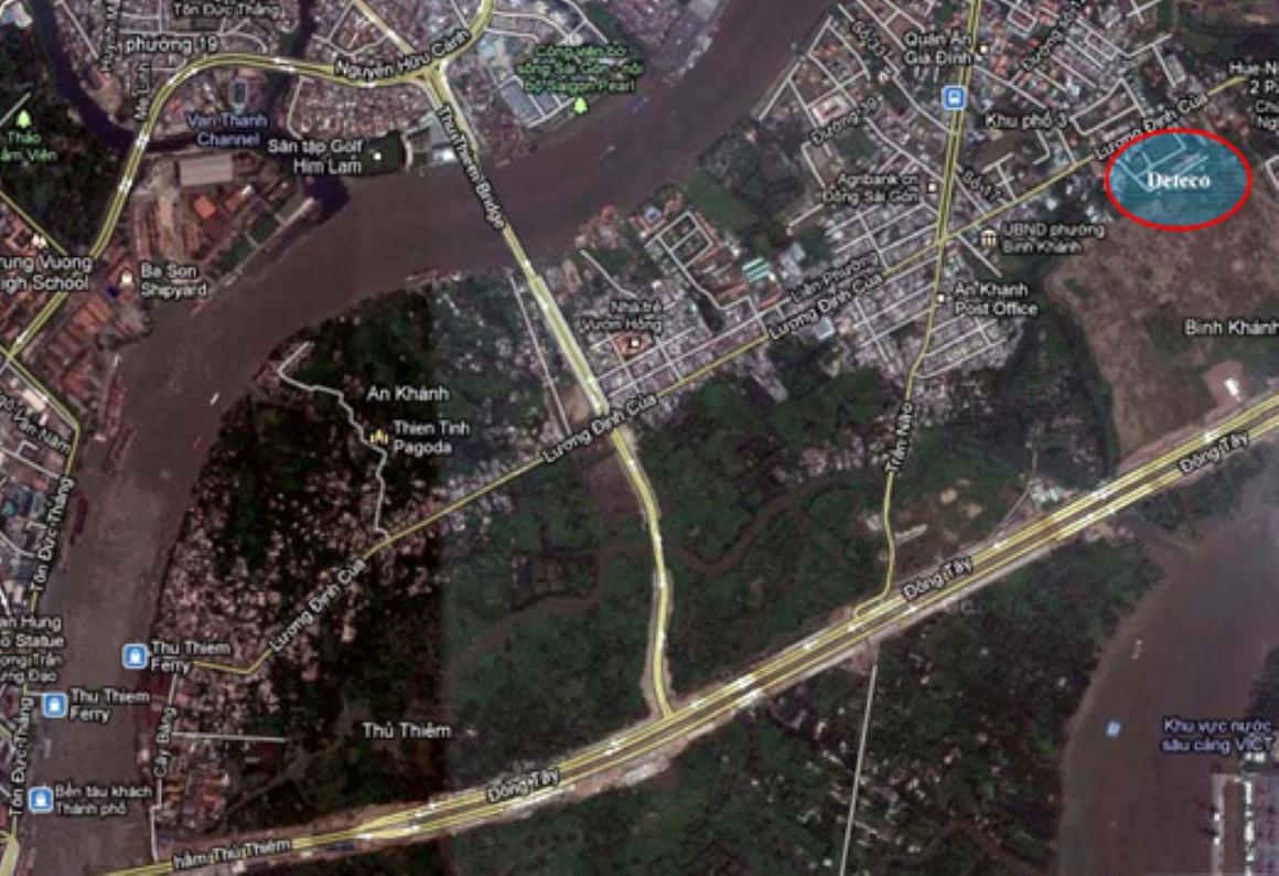 Vị trí dự án Detesco Lương Định Của