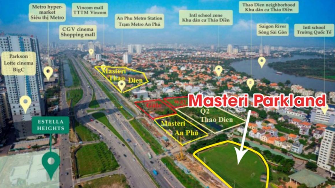 Vị trí dự án Masterise Quận 2