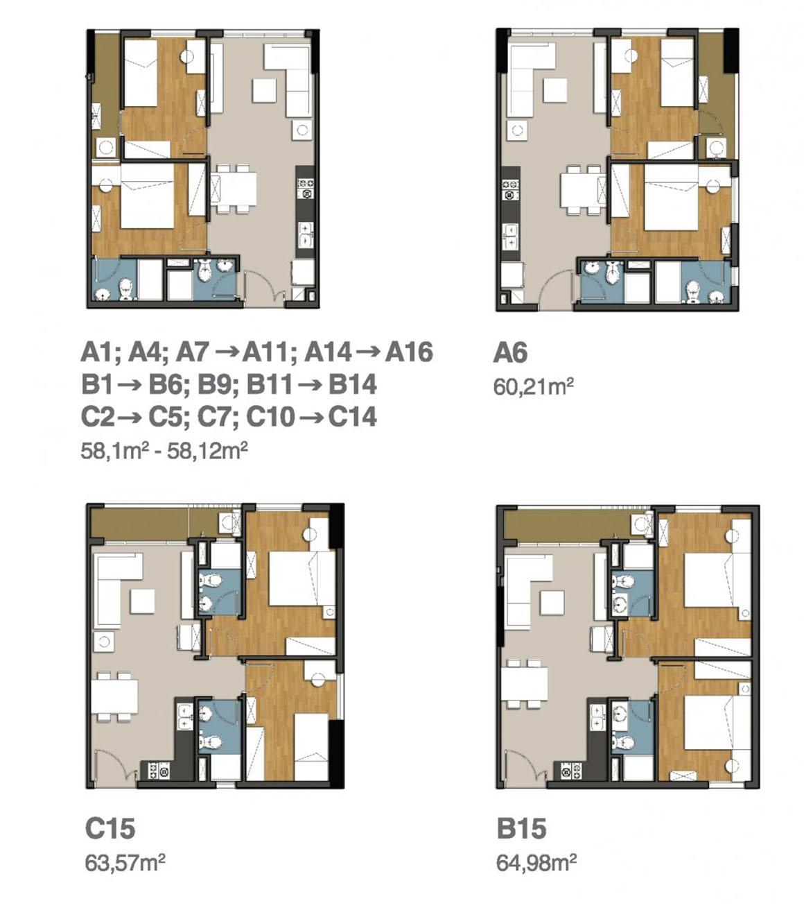 Cân hộ 2PN MB 9 View Apartment