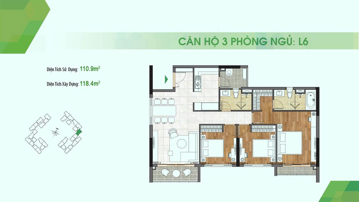 dự án Sadora Apartment mặt bằng L6