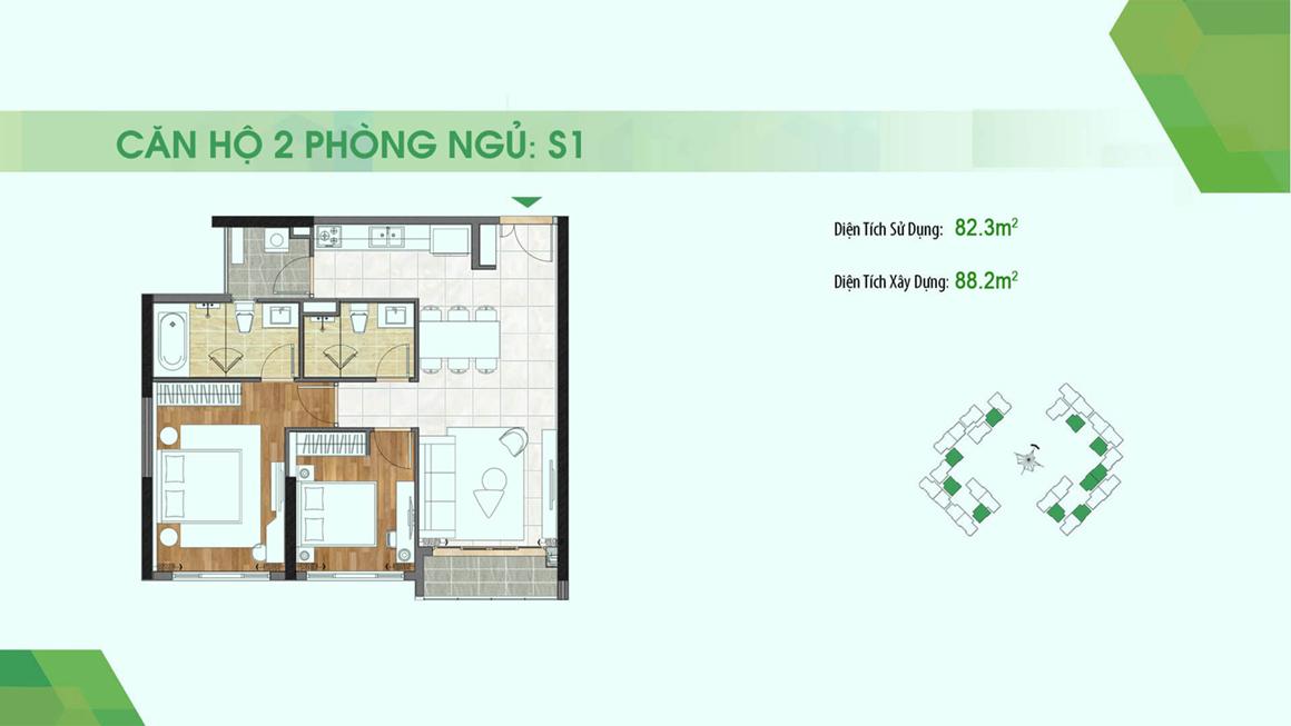 dự án Sadora Apartment mặt bằng S1