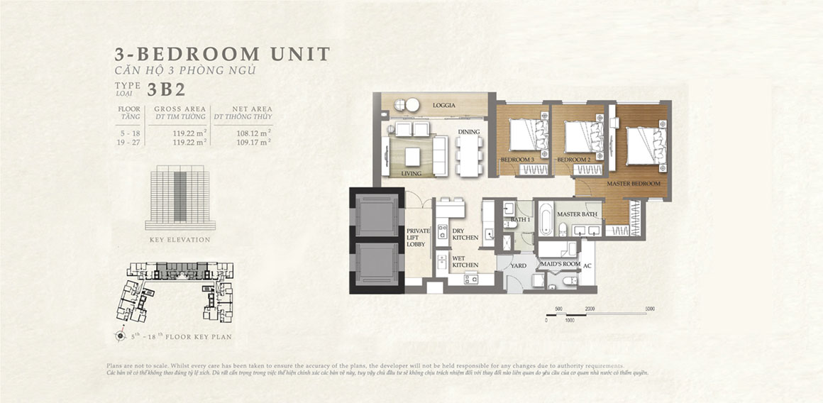Thiết kế căn hộ 3B2 - dự án The Nassim Thảo Điền