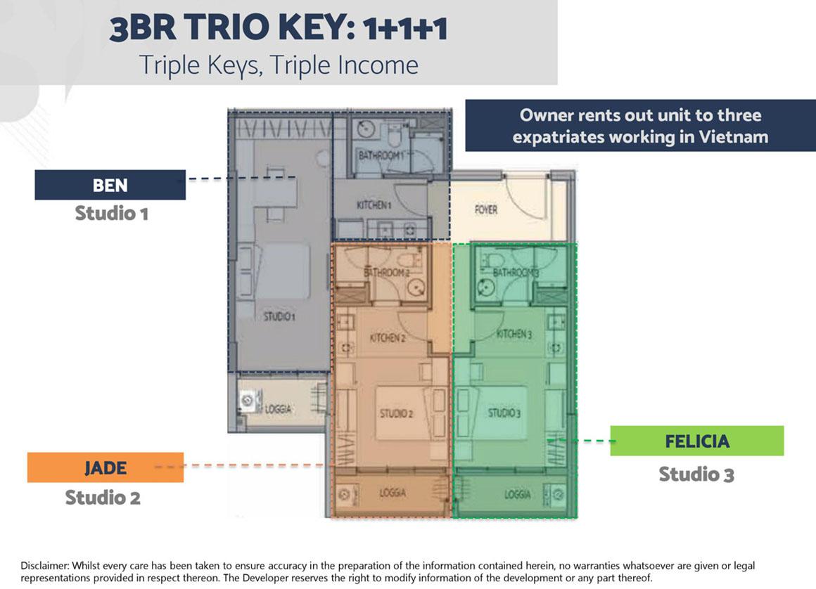 Thiết kế căn hộ 3PN Dự án Define Quận 2 1