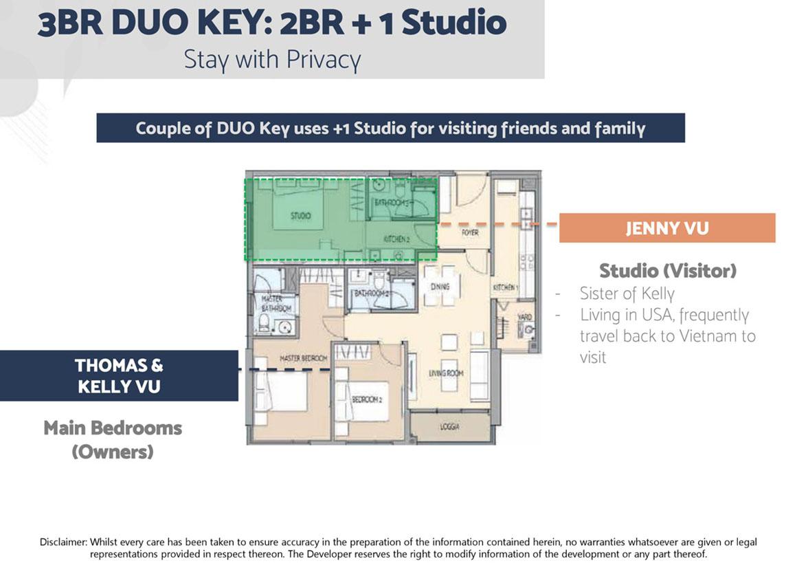 Thiết kế căn hộ 3PN Dự án Define Quận 2