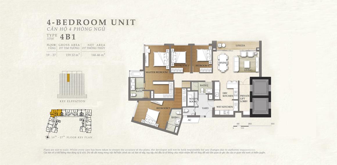Thiết kế căn hộ 4B1 - dự án The Nassim Thảo Điền
