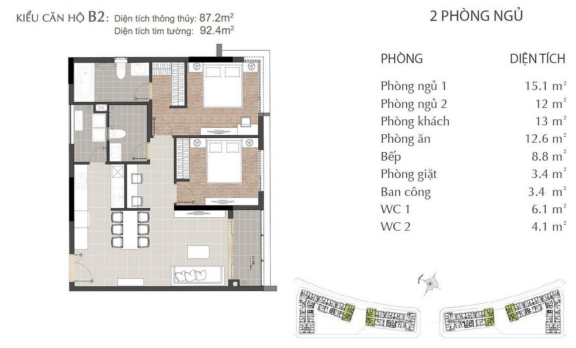 Thiết kế căn hộ B2 dự án SARIMI SALA