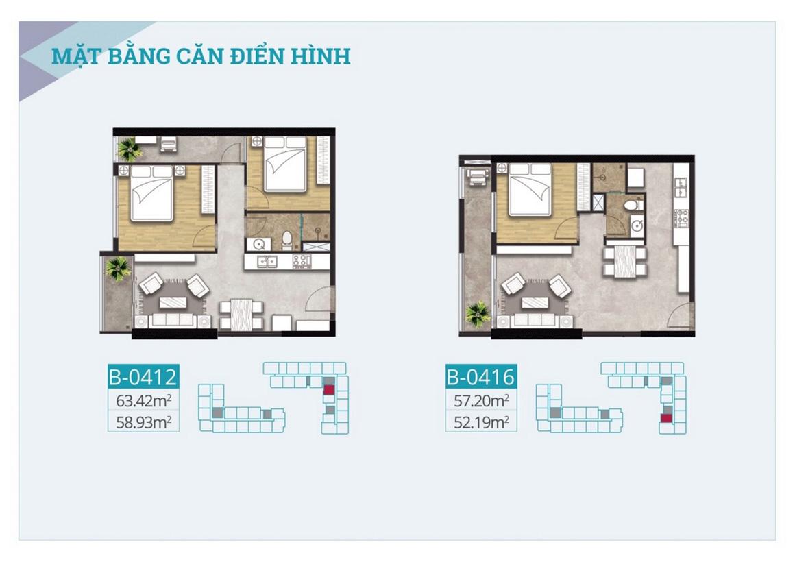 Thiết kế căn hộ dự án C River view Bình Dương