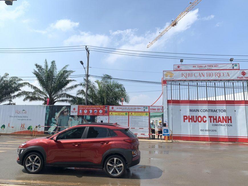 Tiến độ xây dựng căn hộ + shophouse dự án Ricca tháng 04/2020