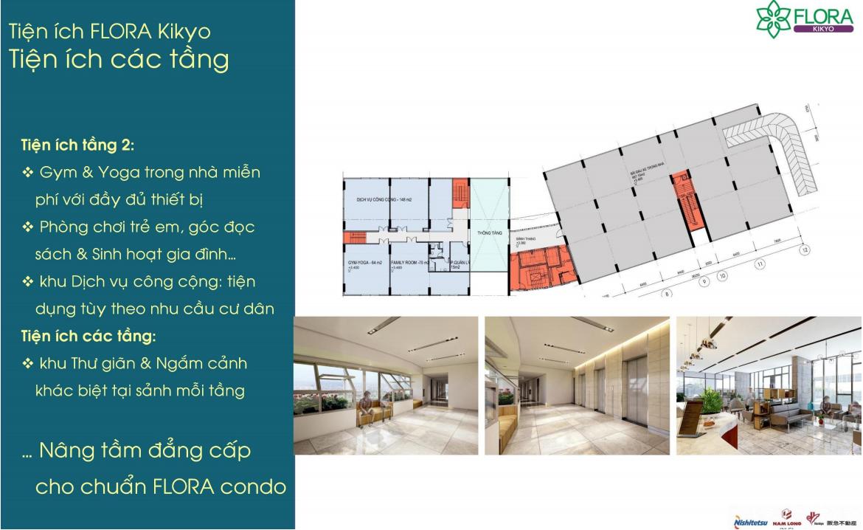 Tiện ích tầng dự án Flora Kikyo
