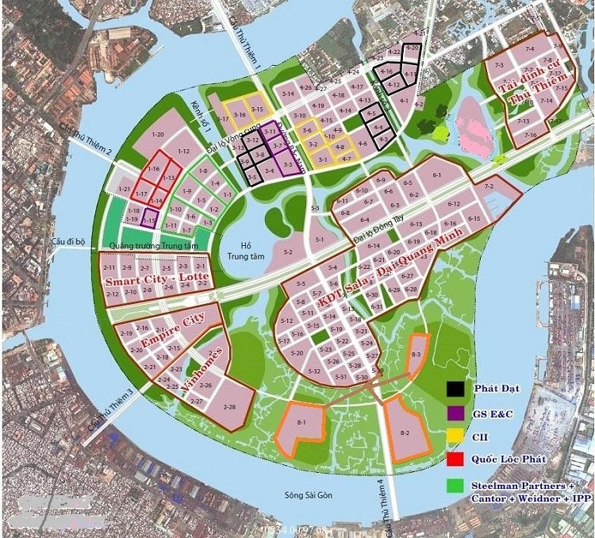Vị trí dự án Eco Smart City Quận 2