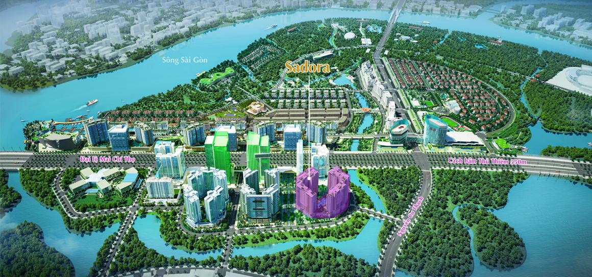 vị trí dự án Sadora Apartment