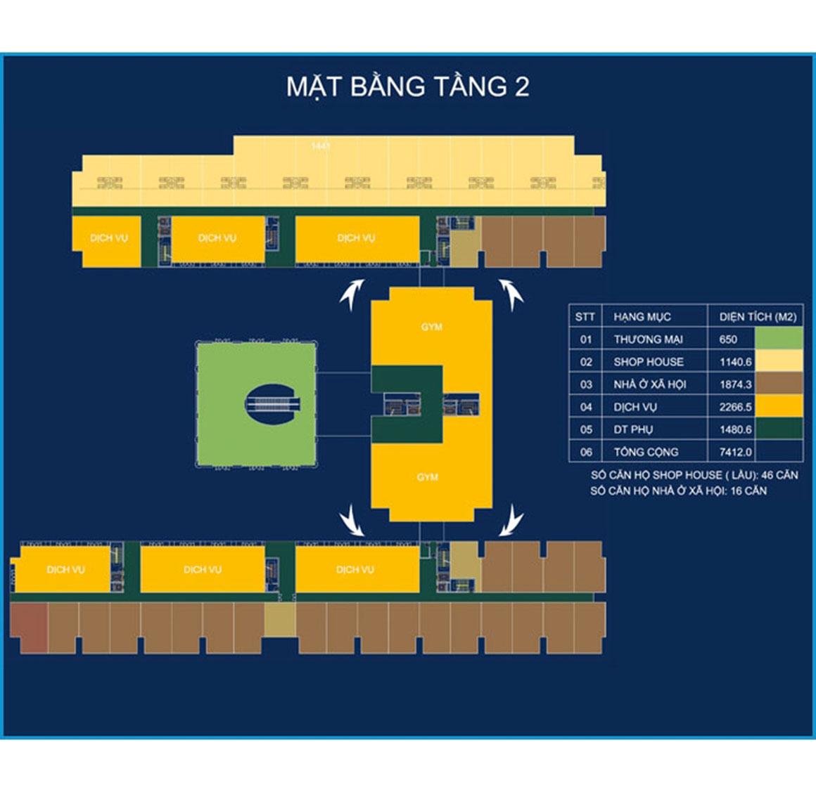 MB Tầng 2 Dự án RIVER PARK TOWER