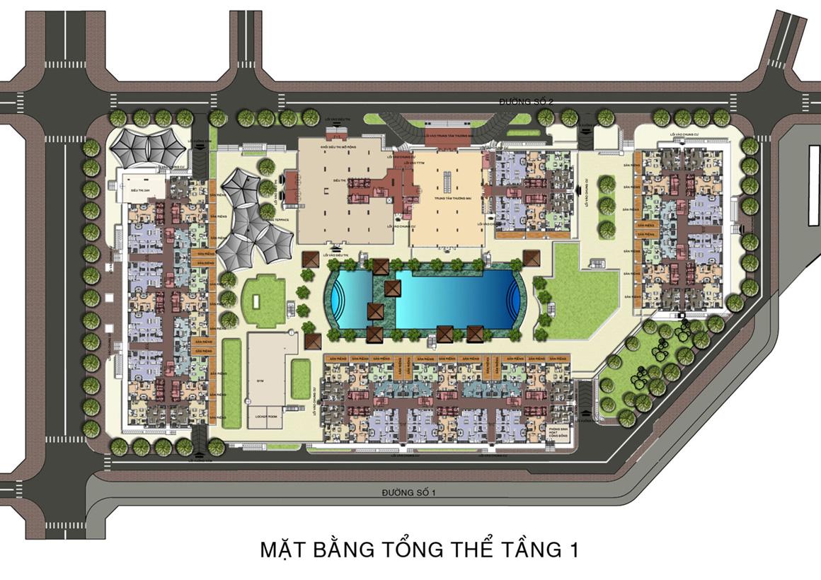 MB Tổng Thể dự án THE ART Tầng 1