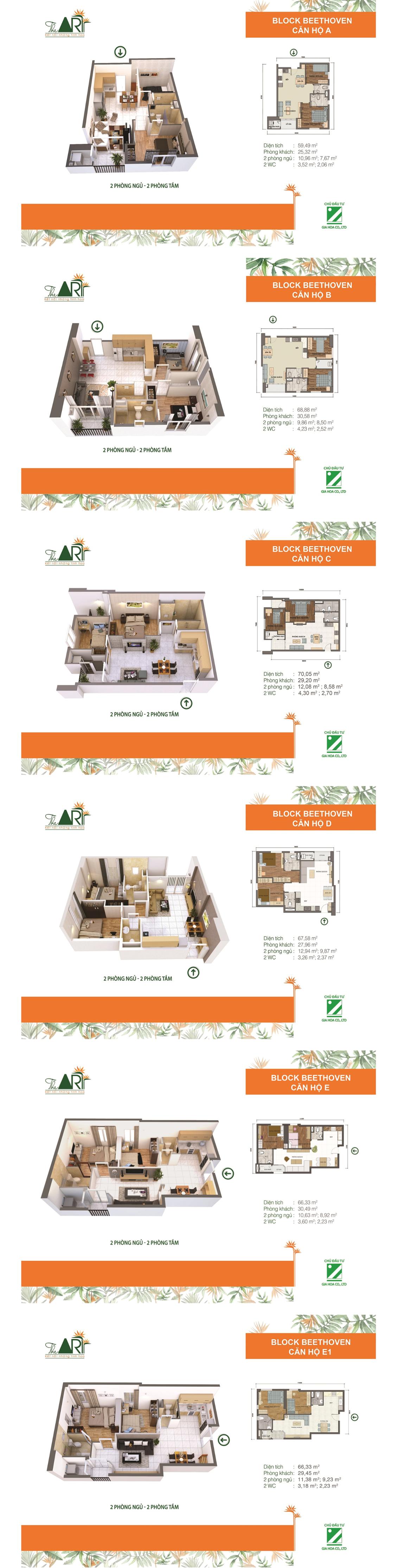 Thiết kế căn hộ dự án THE ART