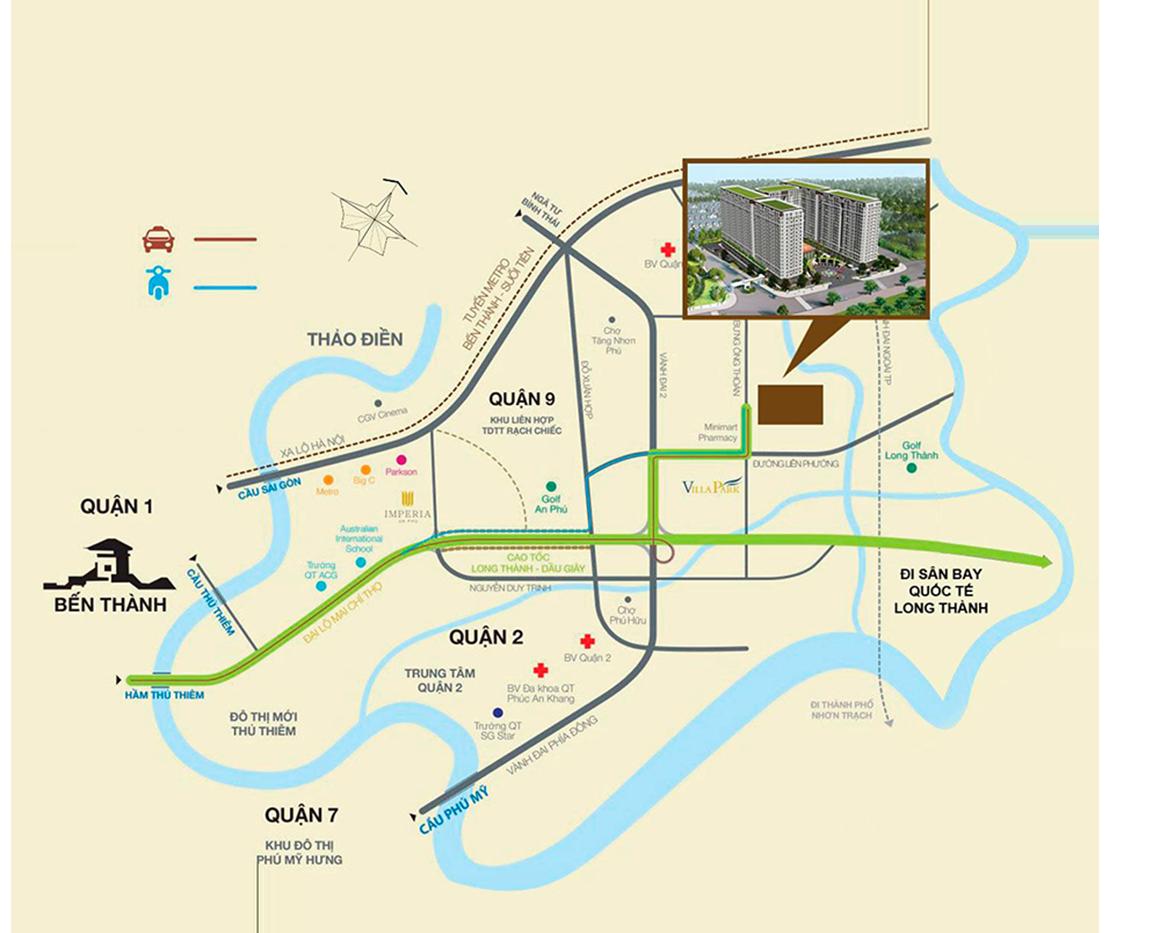 Vị trí căn hộ dự án RIVER PARK TOWER