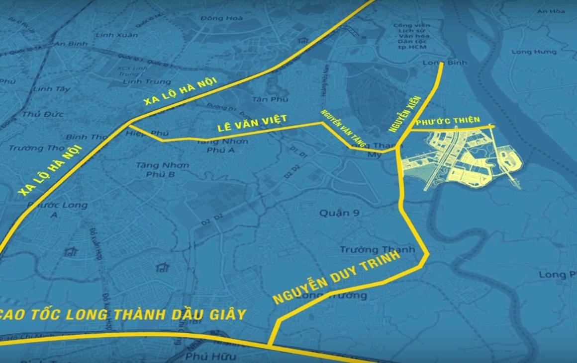 Vị trí dự án Vinhomes Grand Park Quận 9