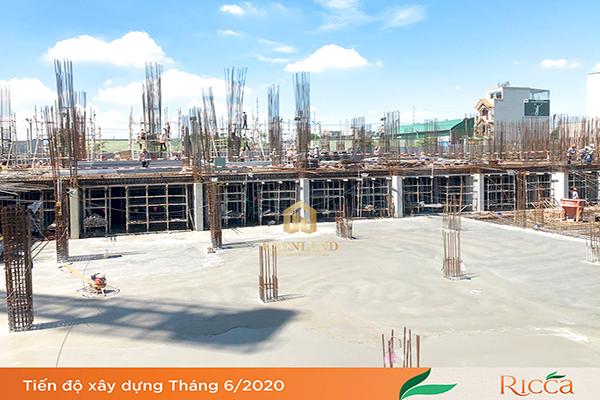 Tiến độ xây dựng dự án Ricca Quận 9 Tháng 06/2020