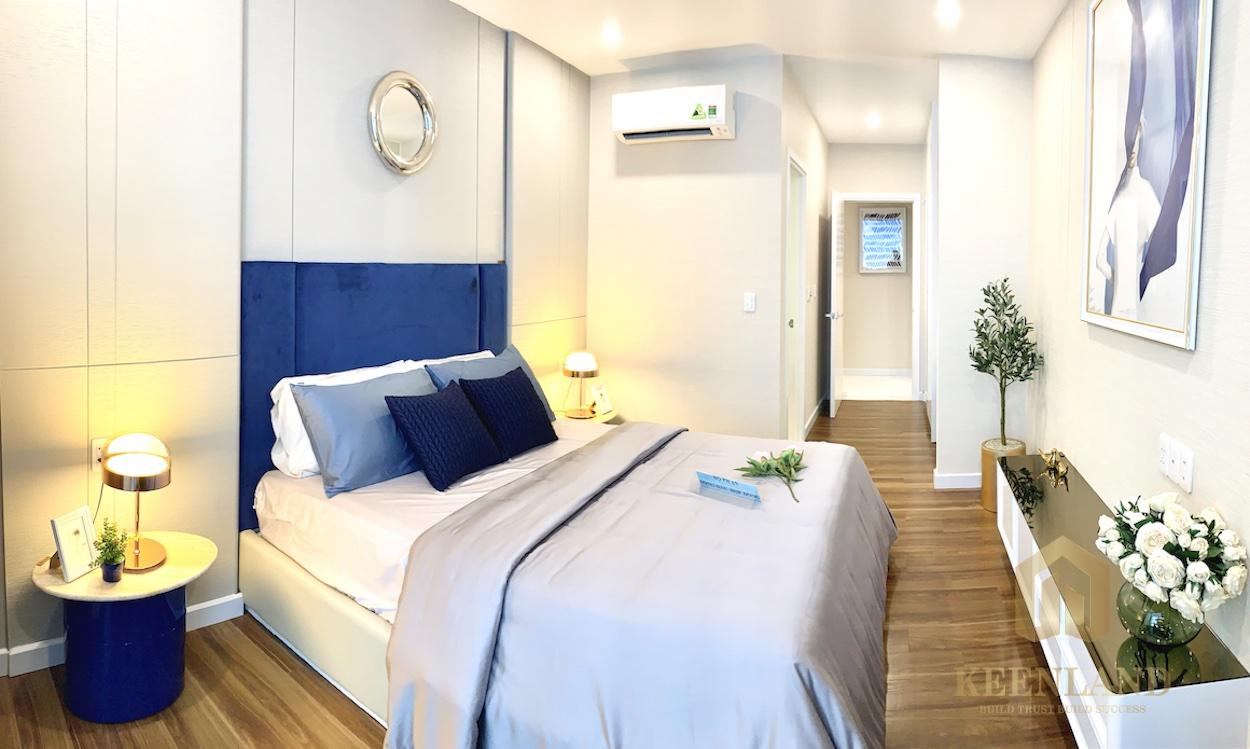Phối cảnh phòng ngủ nhà mẫu căn hộ Precia Quận 2