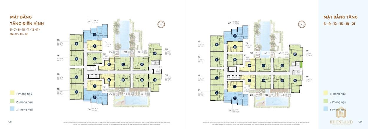 Mặt bằng tổng thể điển hình dự án căn hộ Precia Quận 2