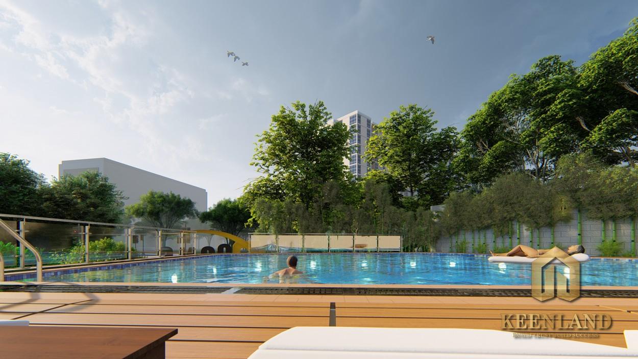 Không gian sống xanh tại dự án căn hộ Bcons Bee Dĩ An Bình Dương