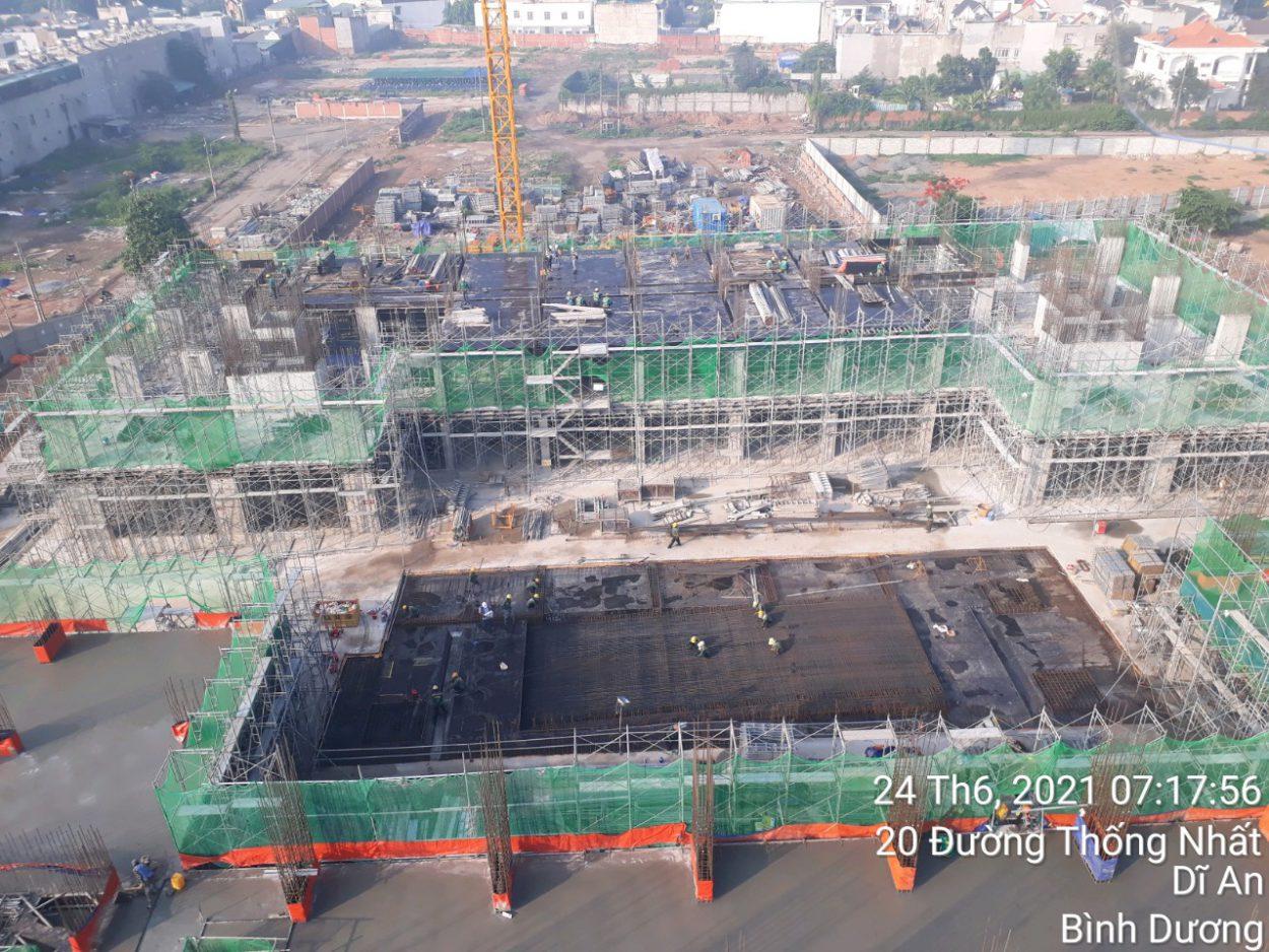Tiến độ xây dựng dự án Bcons Plaza tháng 07/2021