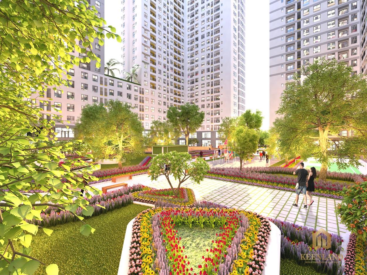 Không gian sống xanh là chủ đạo trong dự án căn hộ bcons garden
