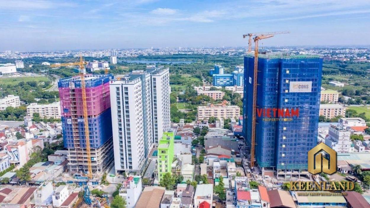 Hình ảnh công trường thi công dự án căn hộ Bcons Miền Đông