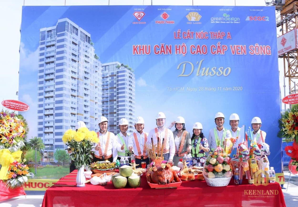 Lễ cất nóc dự án căn hộ D'lusso Quận 2