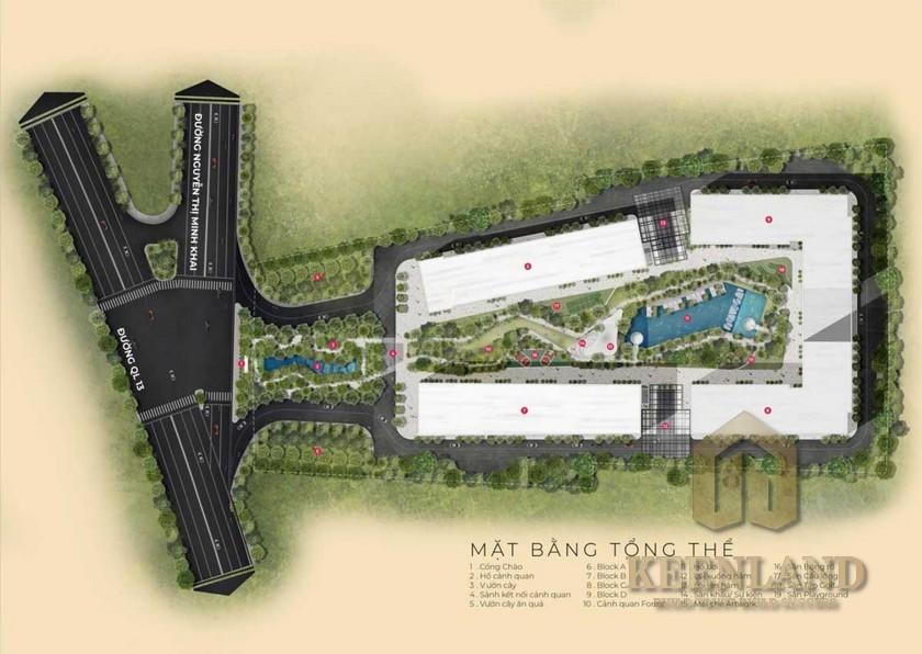 Mặt bằng dự án căn hộ Anderson Park Thuận An