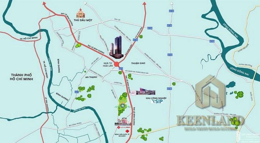 Vị trí địa chỉ dự án căn hộ chung cư Anderson Park Thuận An