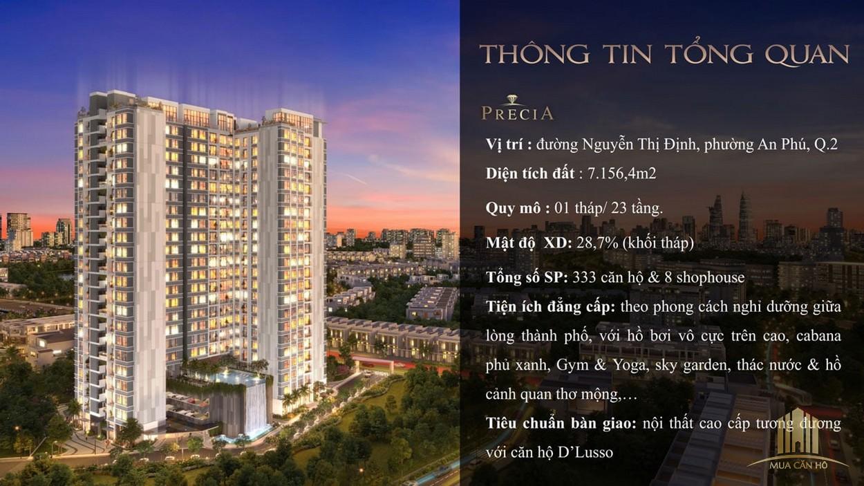 Phối cảnh dự án căn hộ Precia - chủ đầu tư Minh Thông